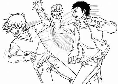 Fighting Fight Drawing Holding Chapter Blood Age