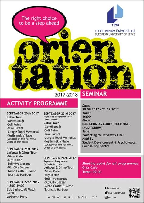 academic year fall semester orientation programme