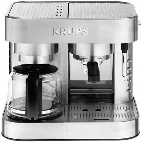 It's made of 54% recycled materials, is only 5.5 inches. Krups Stainless Steel Thermoblock Combination Coffee Maker & Espresso Machine | Cutlery and More