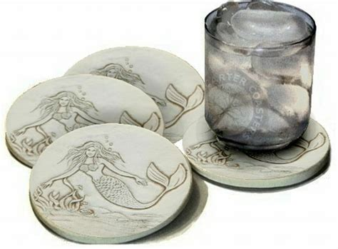 Mccarter Super Absorbent Clay Stoneware Bar Drink Coasters