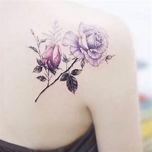 Rose En Tatouage : tatouage rose dos ces tatouages de rose qui ne faneront jamais elle ~ Farleysfitness.com Idées de Décoration