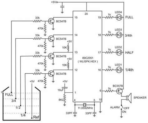 Circuit Diagram Water Level Indicator With Voice Alarm