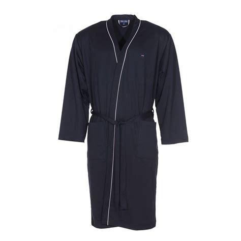 robe de chambre homme coton robe de chambre park en coton bleu nuit rue des hommes