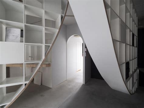 floor to ceiling shelves ikea japanese designer hacks ikea shelf to create floor to ceiling parabolic shelving spoon tamago