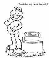 Potty Coloring Toilet Elmo Training Pages Toddler Street Sesame Preschool Printable Colouring Chart Baby Toilets Learning Games Getcolorings Party Activities sketch template