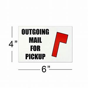Outgoing Mail For Pickup Magnet Magnetic Mailbox Flag