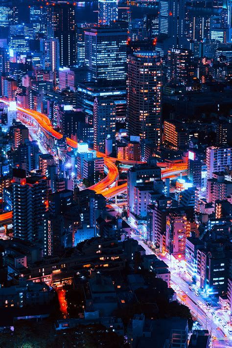 ns pastel city blue red night nature wallpaper