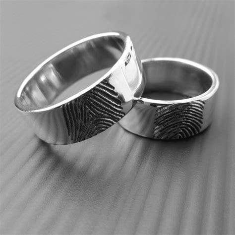 fingerprint wedding rings lwsilver