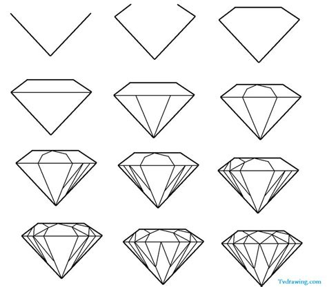 Best 20+ Diamond Drawing Ideas On Pinterest