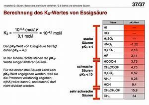 Chemie Mol Berechnen : der pks wert ~ Themetempest.com Abrechnung