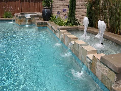 best swimming pool features pool water fountain fountain design ideas