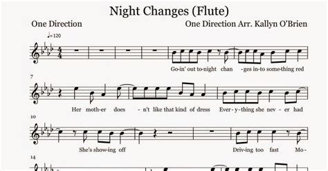flute sheet changes sheet