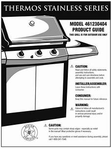 Download Thermos Charcoal Grill 461230404 Manual And User