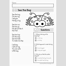 Reading Comprehension & Fluency  Phonics Poems  My Tpt Products  Reading Comprehension