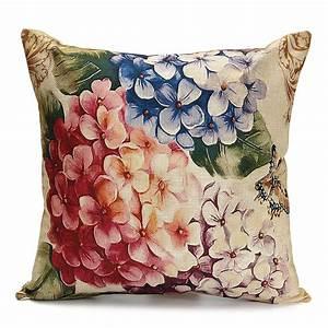 Vintage, Flower, Throw, Pillow, Case, Cover, 18, U0026, 39, U0026, 39, X18, U0026, 39, U0026, 39, Linen, Decorative, Pillow, Cover, Protector, Cushion