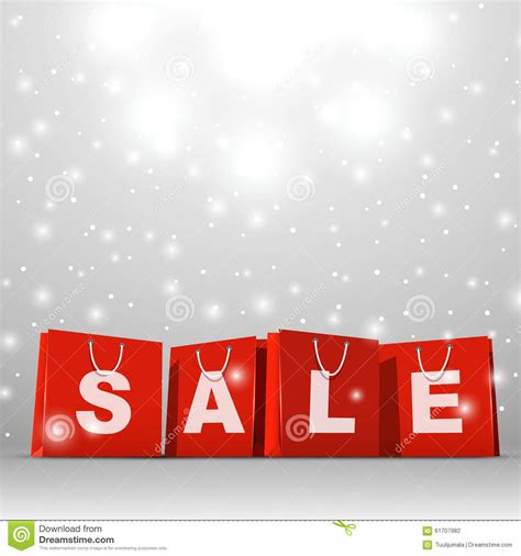 christmas sale template stock vector illustration  bags