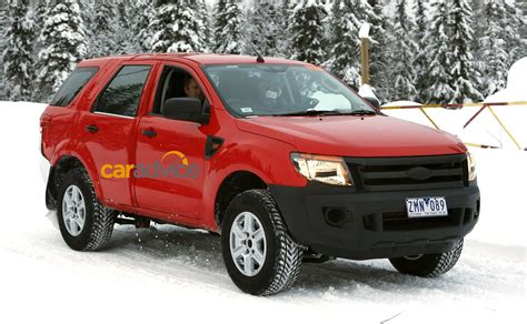 Ford Everest Australian Engineered Suv Spied In The Snow
