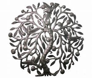 Arbre De Vie Decoration Murale : l 39 arbre de la vie avec des oiseaux en m tal art d coration murale appartement bon march d cor ~ Teatrodelosmanantiales.com Idées de Décoration