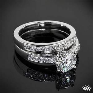 flush fit diamond wedding set 1767 With flush wedding rings