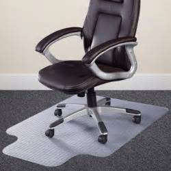 heavy duty office chair mat with lip 114 x 135cm carpet protector delivered flat ebay