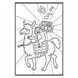Coloring Crayola Boombox Llamas Sloths sketch template