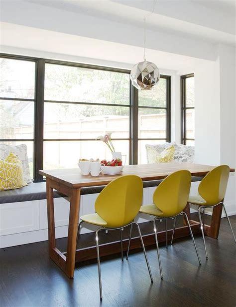 modern breakfast nook window seat features  built
