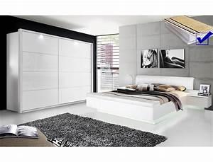 Ebay Schlafzimmer Komplett : schlafzimmer sophie 20b wei hochglanz doppelbett komplett kleiderschrank led ebay ~ Watch28wear.com Haus und Dekorationen