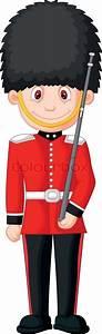 Cartoon a British Royal Guard | Stock Vector | Colourbox