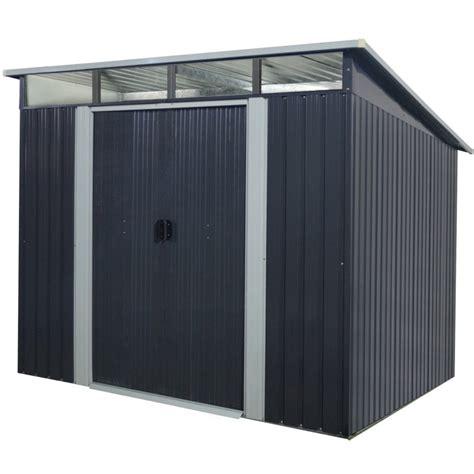 gartenhaus metall anthrazit gartenhaus aus metall 5 64m 178 skylight anthrazit verankerungskit x metal