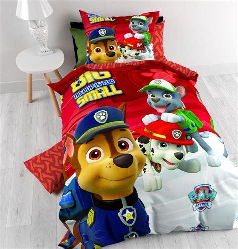 decoration chambre mickey pat patrouille parure de lit housse de couette 140 x 200 cm paw patrol pat