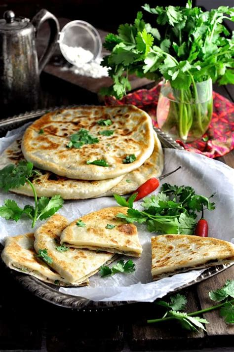 aloo paratha indian potato stuffed flatbread recipetin