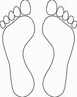 Foot Coloring Bottom Popular sketch template