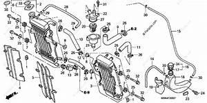 Honda Motorcycle 2005 Oem Parts Diagram For Radiator