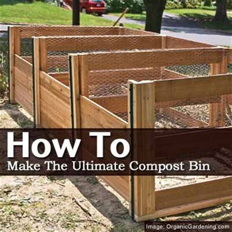 how do you make compost how to make the ultimate compost bin having three bins will let you separate older compost from