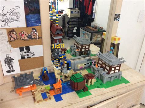 building pewdiepies house  minecraft  lego day