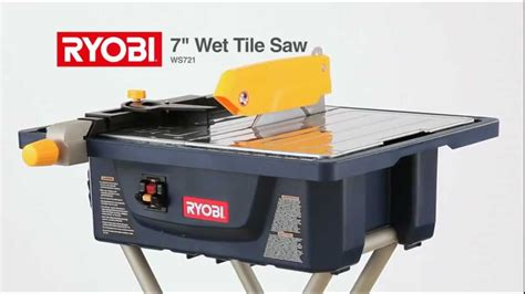 ryobi 7 tile saw 3 4 hp 7 quot tile saw