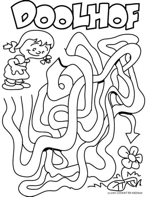 Doolhof Spelletjes Kleurplaat by 2874 Gif