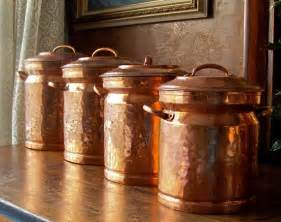 copper kitchen canisters vintage copper canister set beautiful copper and style