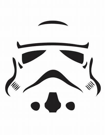 Pumpkin Stormtrooper Wars Stencils Stencil Carving Star