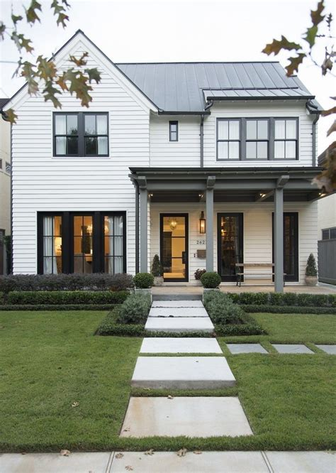 stylish home black  white house design exterior