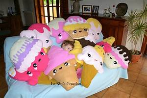 Cuscino In Pile Morbido A Forma Di Cupcake