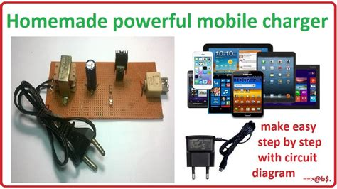 mobile charger  home homemade cell phone