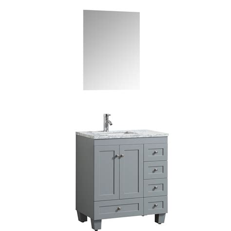 "Discover the perfect bathroom vanity for any style, size or storage needs. Eviva Happy 30"" x 18"" Transitional Grey Bathroom Vanity ..."