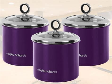 Kitchen Jars Ebay by Details About New Morphy Richards 3pc Tea Coffee Sugar