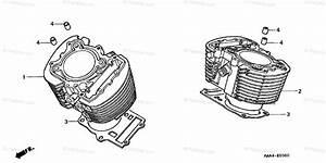 Honda Motorcycle 2005 Oem Parts Diagram For Cylinder