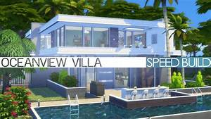 The Sims 4 Speed Build MODERN OCEANVIEW VILLA YouTube