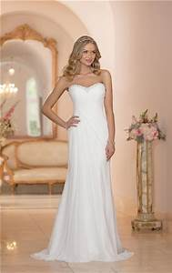 fitted strapless chiffon ruched corset destination wedding With strapless fitted wedding dresses