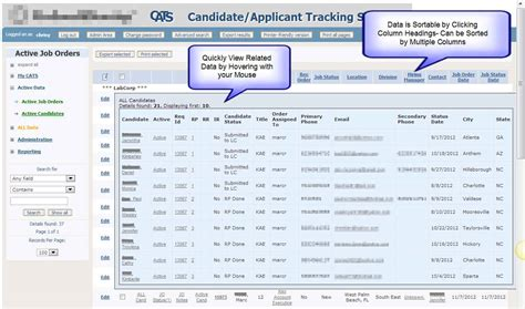 Resume Tracking System by Chris Business Solutions Candidate Applicant Tracking System