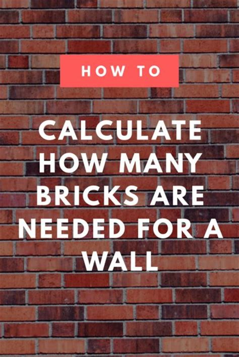 brick calculator estimate  amount  brick  mortar