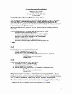 computer maintenance contract sample free printable With computer repair service agreement template